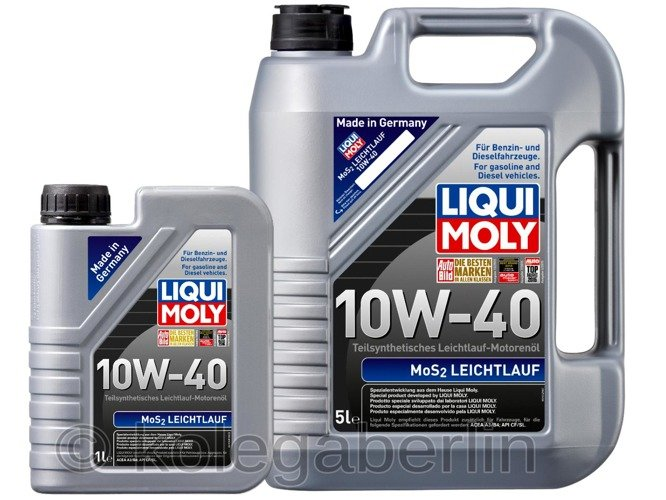 liqui moly mos2 leichtlauf 10w40 6l 5 1. Black Bedroom Furniture Sets. Home Design Ideas