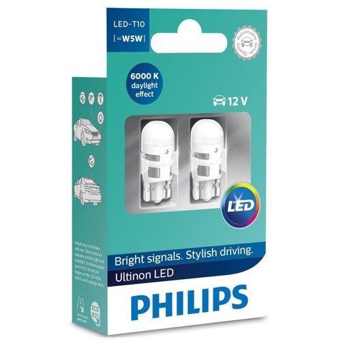 philips x treme vision led w5w t10 6000k. Black Bedroom Furniture Sets. Home Design Ideas