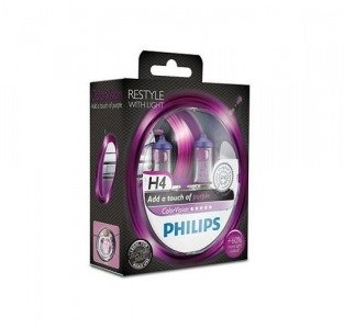 Philips H4 ColorVision purple - kolor fioletowy