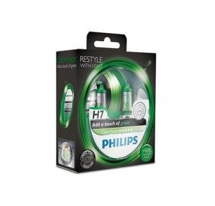 Philips H7 ColorVision green - kolor zielony