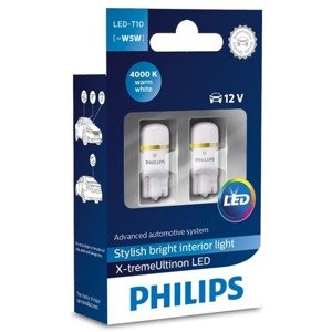 Philips X-treme Vision LED W5W T10 4000K CeraLight™ 360°