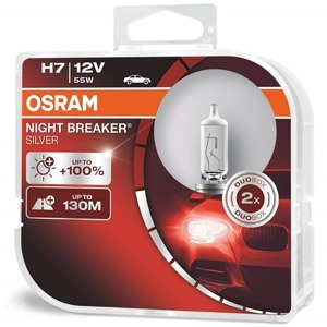 Osram H7 Night Breaker Silver +100% Duo