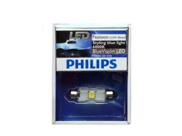 Philips Blue Vision LED Festoon C5W 6000K