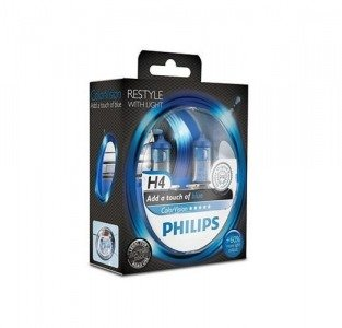Philips H4 ColorVision blue - kolor niebieski