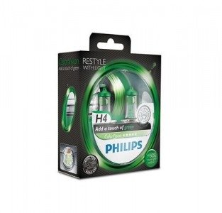 Philips H4 ColorVision green - kolor zielony